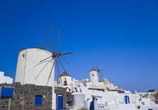 Free Windmill At Santorini Island Royalty Free Stock Photography - 16496807