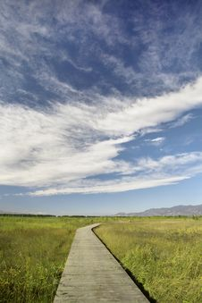 Free Blue Sky,white Cloud And Winding Road Stock Photos - 16496943