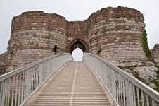 Free Entrance To Ruined Castle Stock Photos - 16497353