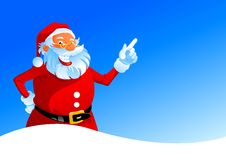 Free Happy Santa On Winter Background Royalty Free Stock Photography - 16497917
