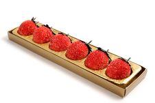 Marzipan Strawberries Royalty Free Stock Photos