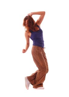 Free Attractive Teenage Dancing Over White Background Stock Image - 16498601