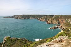 Petit Bot Bay From Icart Point On Guernsey Royalty Free Stock Images
