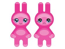 Free Pink Bunny Emoticon Stock Images - 16499404