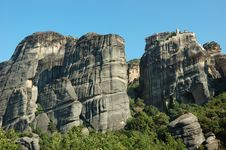 Free Holy Monastery Of Great Meteoron,Meteora,Greece Royalty Free Stock Images - 16499789