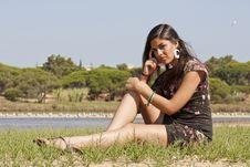 Free Girl Meditating Stock Photography - 16499822