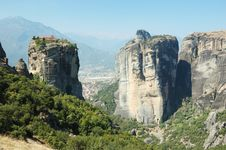 Holy Trinity Rock Monastery,Meteora,Greece Stock Images