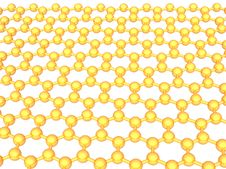 Free Gold Reflective Graphene Structure On White Royalty Free Stock Photography - 16499917