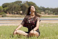 Free Girl Meditating Stock Image - 16499921