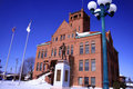Free Historic Red Brick Courthouse In The Center Of Town Stock Image - 1651161