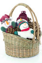 Free Snow Guys In A Basket Stock Images - 1657774