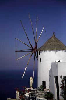 Free Santorini Windmill Royalty Free Stock Photos - 1650538