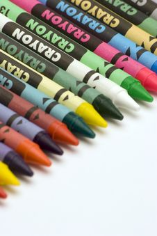 Free Multi Coloured Crayons Royalty Free Stock Images - 1650589