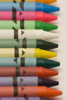 Free Multi Coloured Crayons Stock Photography - 1650592