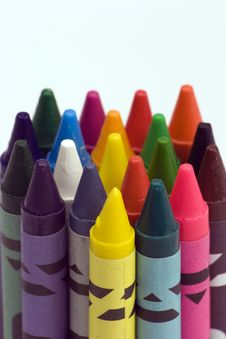 Free Multi Coloured Crayons Royalty Free Stock Photography - 1650597
