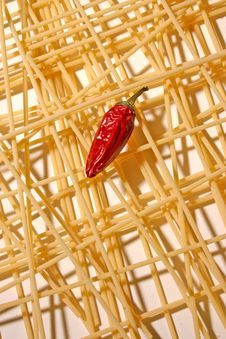 Free Pasta And Peppers Royalty Free Stock Images - 1651069