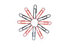 Free Paper Clip Flower Stock Photography - 1652642