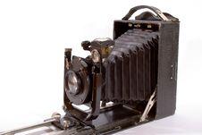 Old Camera Isolated On White Stock Photo
