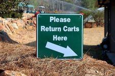 Free Golf Cart Sign Stock Photo - 1653210