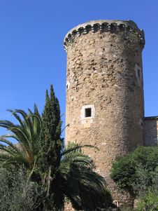 Ancient Mediterranean Watchtower (Costa Brava, Spain) Royalty Free Stock Photos
