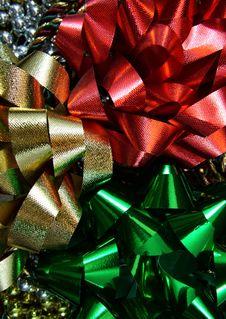 Holiday Bows Royalty Free Stock Photos