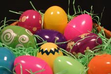Plastic Easter Eggs Royalty Free Stock Images