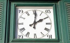 Free Wooden Framed Clock Royalty Free Stock Images - 1654959