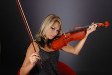 Free Girl With The Violin Stock Image - 1654981