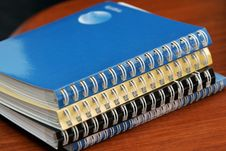 Free Diaries With Spirals Stock Photography - 1657182