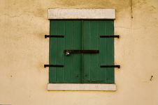Green Storm Doors Royalty Free Stock Image