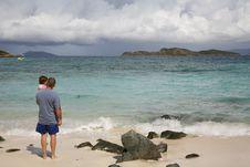 Free Beach Scene, Saint Thomas, US Virgin Islands Stock Photo - 1658820