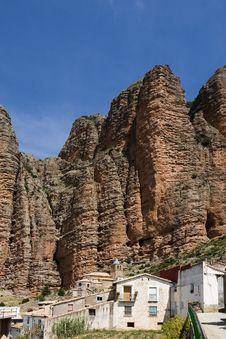 Riglos, Huesca, Spain Stock Image