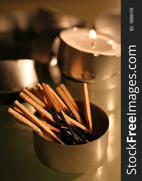 Burnt matchsticks