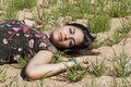 Free Girl Sleeping On Grass Royalty Free Stock Photos - 16500018