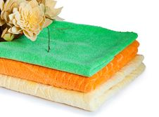 Free Three Multi-colored Towels Stock Photo - 16500000