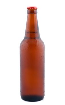 Free Beer In Bottle  Isolated On White. Royalty Free Stock Photo - 16500945