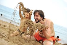 Free Playing Together In Sand Royalty Free Stock Photo - 16501115