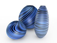 Free Blue Stripes Vase. 3D Illustration Royalty Free Stock Images - 16501239