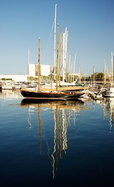 Free Yachts Standing In Port  Of Barcelona Stock Photography - 16501362
