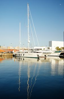 Free Yachts Standing In Port  Of Barcelona Royalty Free Stock Image - 16501416