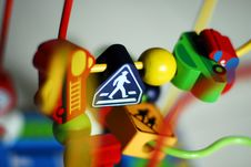 Toy Pedestrian Crossing Road Sign Stock Photos