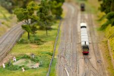 Free Miniature Freight Train Royalty Free Stock Photo - 16502515