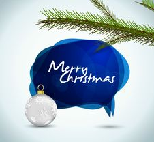 Christmas Banner Text In The Form Of The Bubble Royalty Free Stock Photos