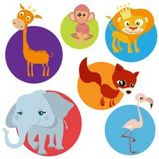 Free Cartoon Wild Animals Royalty Free Stock Images - 16503339