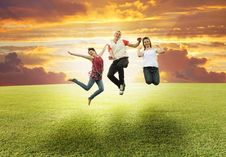 Free Motion On Green Meadow Stock Image - 16503831