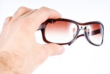 Glases In Hand Stock Images