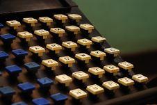 Free Type Writer Keys Stock Photography - 16504582