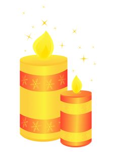 Free Christmas Candles Royalty Free Stock Photo - 16504665