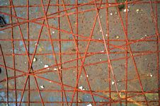 Free Crossing Rusty Reinforcing Bars Stock Photos - 16504673
