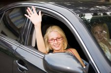 Free Woman In The Car Royalty Free Stock Photo - 16504705